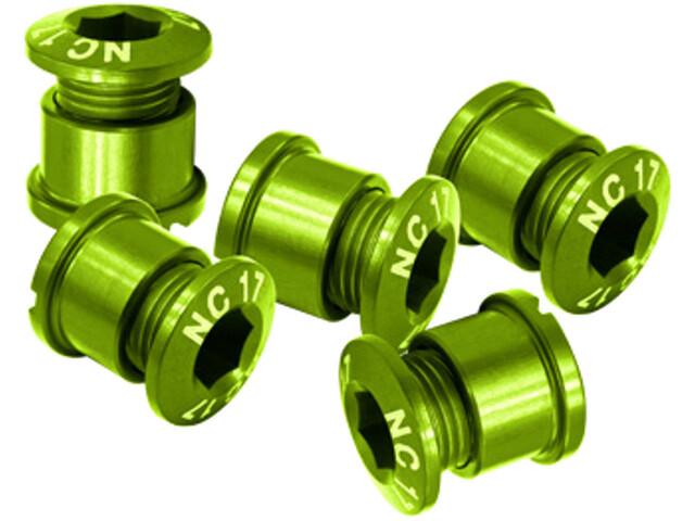 NC-17 Set of 5 94/104 Kettingblad Schroeven T6 4+5 gaats, green
